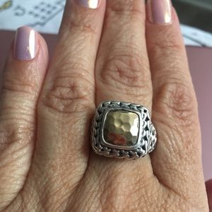 Jewelry - 14kt Gold & Sterling Silver Bali Ring Size 10